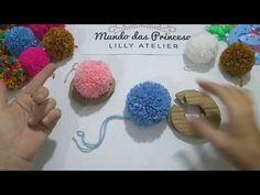 Fazer pompom fácil - YouTube Pom Poms, Diy And Crafts, Crafts For Kids, Pom Pom Crafts, Crochet Borders, Diy Hair Bows, My Princess, Diy Hairstyles, Tassels