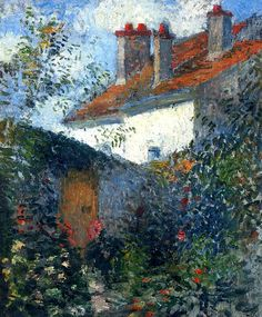 ۩۩ Painting the Town ۩۩ city, town, village & house art - Camille Pissarro | Study at Pontoise, c. 1878