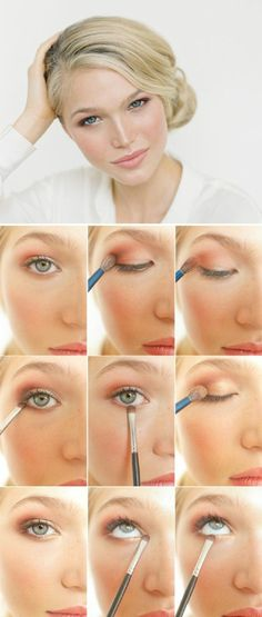 apprendre a se maquiller les yeux bleus, tuto facile et rapide comment maquiller les yeux bleus