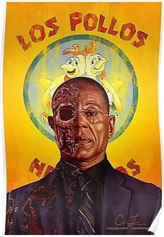 'Los Pollos Hermanos, Breaking Bad Iconic Scene (Gustavo Fring, Gus Fring)' Poster by Thomas Barlow Art Breaking Bad, Affiche Breaking Bad, Breaking Bad Poster, Breaking Bad Series, Gustavo Fring, Beaking Bad, History Instagram, Gus Fring, Rock Poster