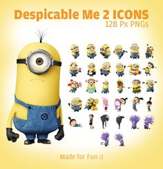 Despicable Me 2 minion Icons 128 Px PNGs