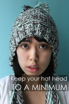418c616b3b5 How to avoid hat head and hat hair! Winter Hairstyles