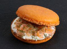 macaron salé, saumon aneth