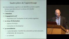 Les grands principes de l'apprentissage. Conférence de Stanislas Dehaene le 20 novembre 2012 au Collège de France.