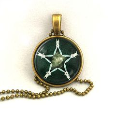 10% SALE - Necklace Copper, Star made of Five Rabbit Bunnies, Funny Art Pendant Gift. £7.69, via Etsy.