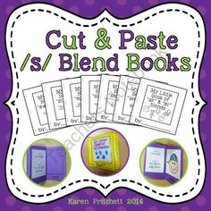/s/ blends cut and paste mini books! Enter for your chance to win 1 of 3.  Cut and paste mini books for s blends - no laminating! Ink Saver! (24 pages) from Mrs. Pritchett's Printables on TeachersNotebook.com (Ends on on 4-2-2014)  I hope you enjoy these fun little cut and paste books. Great for speech therapy or regular ed!