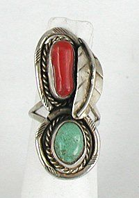 Authentic Native American Vintage Sterling Silver and turquoise ring