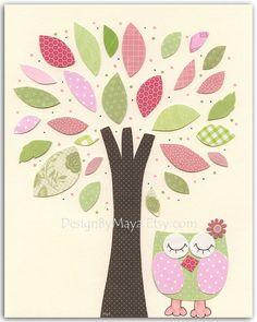 Bebé niña arte vivero pared imprimir arte Rosa y por DesignByMaya