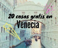 Te contamos con lujo de detalles, todas las cosas que podes ver y hacer totalmente GRATIS en tu paso por Venecia. Para que disfrutes sin gastar! Vacation Places, Places To Travel, Travel Destinations, Places To Go, Venice Travel, Italy Travel, Travel Around The World, Around The Worlds, Best Of Italy
