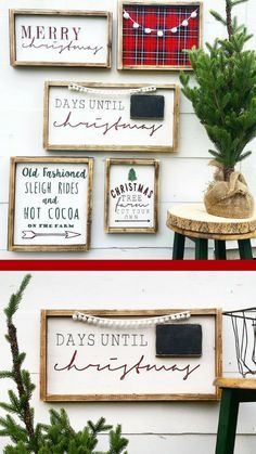 Rustic Holiday Decor | Farmhouse Christmas Decor | Cottage Holiday | Merry Christmas | Christmas Countdown | Wood Sign | Seasonal Decor #affiliate