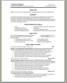 Structural Engineer Resume