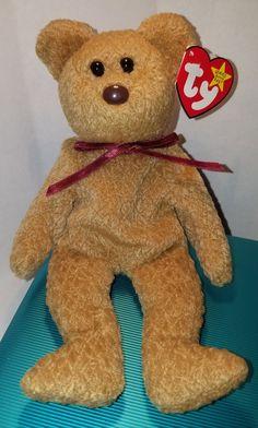 3df99004cb9 MINT - Ty Beanie Baby Curly Bear ALL Errors Handmade 1st Edition Beanies -  WOW!