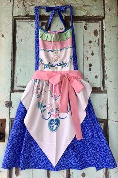 Vintage Scandinavian Style Tablecloth Apron