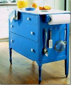 Reuse Idea: Old Dresser?   New Kitchen Island! @Alyssa Savino you should look for one at a thrift store and do it!