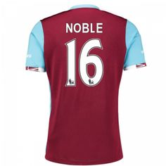 West ham Jersey 2016/17 Home Soccer Shirt #16 Noble