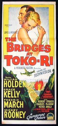 grace kelly movie posters | BRIDGES AT TOKO-RI Movie Poster 1954 Grace Kelly Richardson Studio ...
