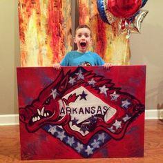 Arkansas Razorback Art by LaurenMeredithArt on Etsy, $500.00