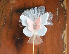 Doğum ve Baby Shower için el yapımı Kelebek figürlü  bebek şekeri   www.butikisleratolyesi.com