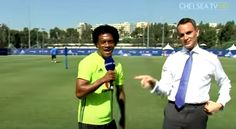 Who plugged you in? Juan Cuadrado gives vital weather update at Chelsea training (Video)