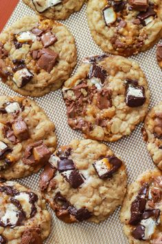 Brown Butter Chunky Milky Way Oatmeal Cookies