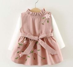 "HOT PRICES FROM ALI - Buy ""Girls dress Kids clothes Baby girl dresses Cute embroidery dress-set Girl Autumn tshirt+sundress Roupas infantis menina"" from category ""Mother & Kids"" for only USD. Baby Outfits, Kids Outfits, Newborn Outfits, Cute Dresses, Girls Dresses, Flower Girl Dresses, Princess Dresses, Baby Dresses, Peasant Dresses"