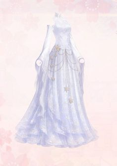 Dress Sketches, Clothing Sketches, Snow Queen, Pretty Outfits, Beautiful Outfits, Elvish Dress, Anime Outfits, Fashion Outfits, Nice Dresses