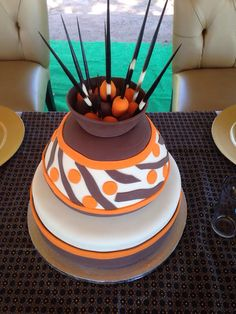 Ethnic/Traditional Wedding Cake #nubianbride #blackweddings #southafricanweddings African Traditional Wedding, Traditional Wedding Cakes, Traditional Cakes, Types Of Wedding Cakes, Themed Wedding Cakes, Themed Cakes, African Wedding Cakes, African Wedding Theme, Unique Cakes