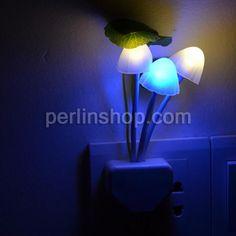 Nachtlampe, Kunststoff Pilz, LED, 130x55mm