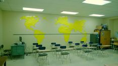 Decoration/setup ideas for the high school social studies classroom (from Hipster Miss Frizzle).