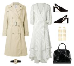 """""""Untitled #7773"""" by amberelb ❤ liked on Polyvore featuring Ganni, R13, The Row, Arme De L'Amour and Yves Saint Laurent"""