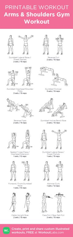 Arms & Shoulders Gym Workout