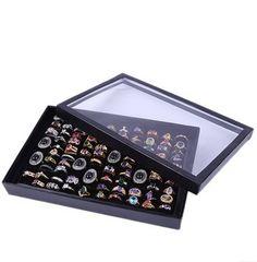 100 Накопитель рамка дисплея коробка кольца серьги стержня коробка серьги рамка коробки ювелирных изделий коробки