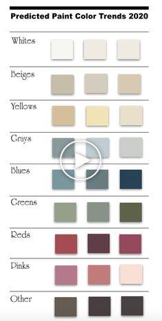 Top 75 des tendances de couleurs de peinture prévues pour 2019-2020 (avec photos de la pièce) - South Shore Decorating Blog #ideesdesalon #decorationdesalon