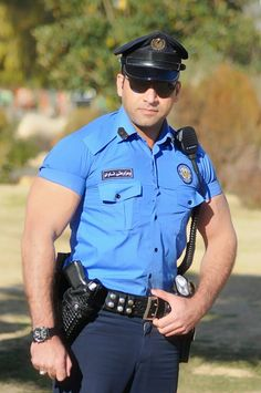 Police Lovin — One sexy piece of man, Kurdish police officer