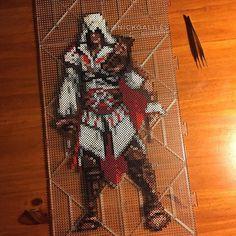 Ezio Auditore - Assassin's Creed perler beads by nickgalilei