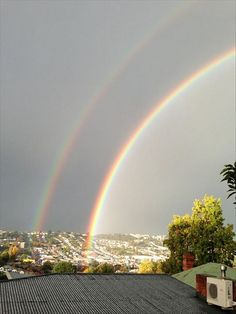 Double rainbow from West Launceston (User contributed: Emily Brophy)