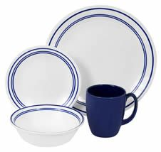 An awesome country french blue and white plate set...would look good with the braid silverware.