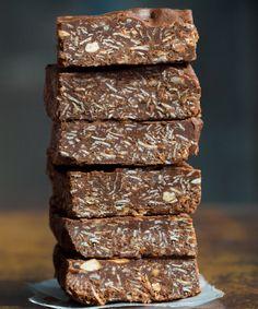 20 Easy Vegan Delicious No-Bake Snacks | Daily Vegan Meal Chocolate No Bake Cookies, Chocolate Oatmeal, Chocolate Covered, Chocolate Desserts, Delicious Cookie Recipes, Yummy Cookies, Baking Recipes, Free Recipes, Vegan Recipes