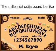 Millennial Ouija Board