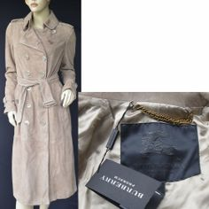 BURBERRY PRORSUM New Womens Leather Trench Coat w belt sz 44 10 Authentic $4795 #Burberry #Trench