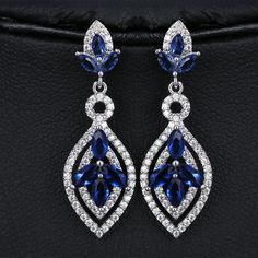 Find More Drop Earrings Information about 2015 High Quality White Gold Plated CZ…