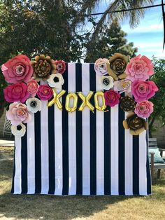 Kate Spade Themed Bridal Shower Backdrop by PetalsByMichelle