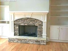 9 Connected Cool Tricks: Tv Over Fireplace With Shelves fireplace insert built in.Limestone Fireplace Built Ins fireplace wall diy.Tv Over Fireplace Beams. Reface Fireplace, Fireplace Built Ins, Fireplace Hearth, Home Fireplace, Fireplace Remodel, Living Room With Fireplace, Fireplace Surrounds, Fireplace Design, Home Living Room