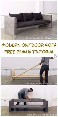 DIY Outdoor Seating Projects Tutorials & Free Plans 2019 DIY Outdoor Seating Projects Tutorials DIY Modern Outdoor Sofa Tutorial The post DIY Outdoor Seating Projects Tutorials & Free Plans 2019 appeared first on Patio Diy. Modern Outdoor Sofas, Diy Outdoor Furniture, Pallet Furniture, Rustic Furniture, Diy Furniture Modern, Luxury Furniture, Cinder Block Furniture, Outside Furniture, Backyard Furniture