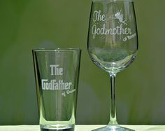 Godfather Godmother Gift Baptism Gift for by LifelongCreationsDS