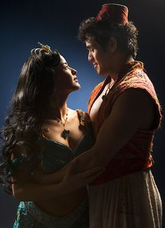 """Adam Jacobs and Courtney Reed as Aladdin and Jasmine in """"Aladdin: The Musical""""."""