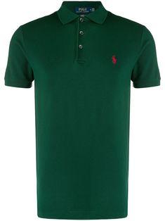 Polo Ralph Lauren slim fit polo shirt - Green Polo Ralph Lauren, Ralph Lauren Store, Ralph Lauren Slim Fit, Slim Fit Polo Shirts, Camisa Polo, Button Down Collar, Couple Shirts, Green Cotton, Golf Shirts