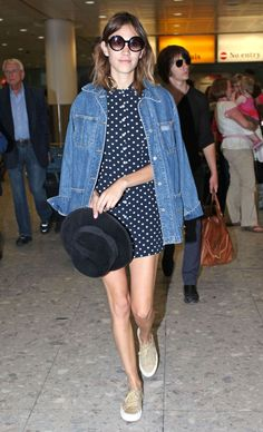 Alexa Chung and Alex Turner arrive at Heathrow airport in London | June 23, 2010