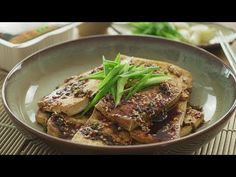 Pan Fried Tofu with Korean sauce – 韩式煎豆腐 – The MeatMen – Your Local Cooking Channel Real Chinese Food, Pan Fried Tofu, Toasted Sesame Seeds, Korean Food, Healthy Recipes, Healthy Foods, Cravings, Fries, Spicy