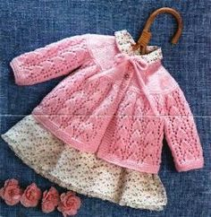 PDF Digital Vintage Knitting Pattern Baby Coat or Jacket Chest 17 18 DK 8 ply Yarn Baby Knitting Patterns, Knitting For Kids, Baby Patterns, Free Knitting, Knitting Needles, Cardigan Bebe, Baby Cardigan, Knitted Baby Clothes, Baby Knits